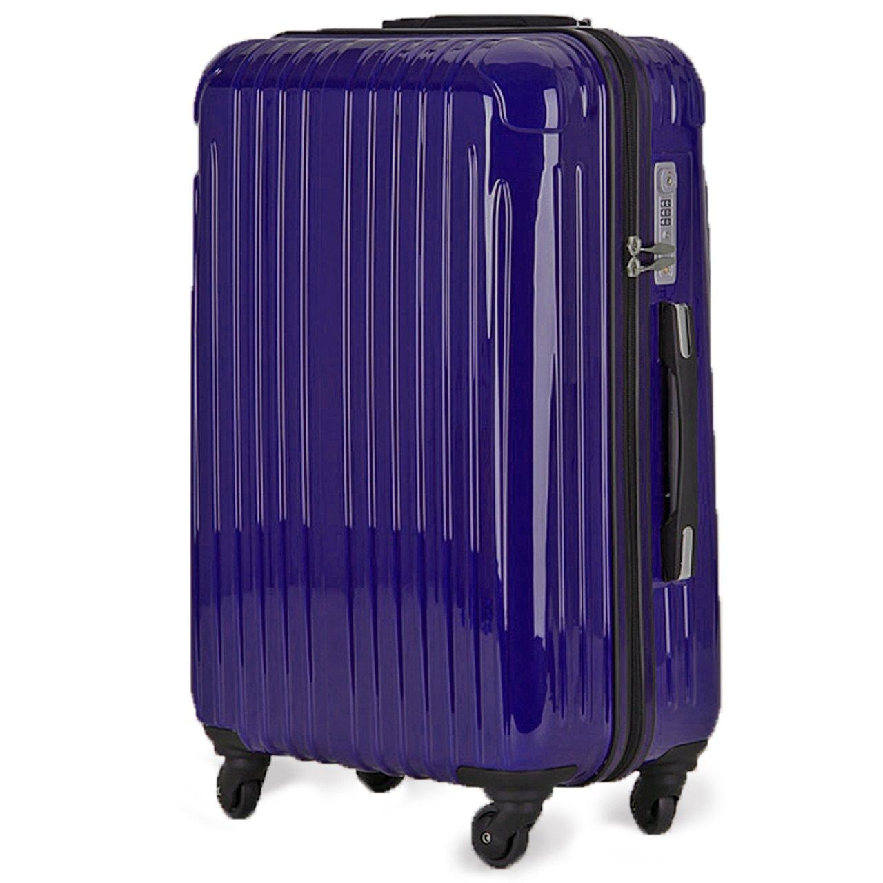 strike[ストライク]超軽量 2年保証 スーツケース TSAロック搭載 旅行バック トランクケース 旅行カバン B079M3TRJB 大型アウトレット|パープルネイビー パープルネイビー 大型アウトレット