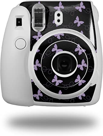 CAMERA NOT INCLUDED WraptorSkinz Skin Decal Wrap for Fujifilm Instax Mini 8 Camera Butterflies Red