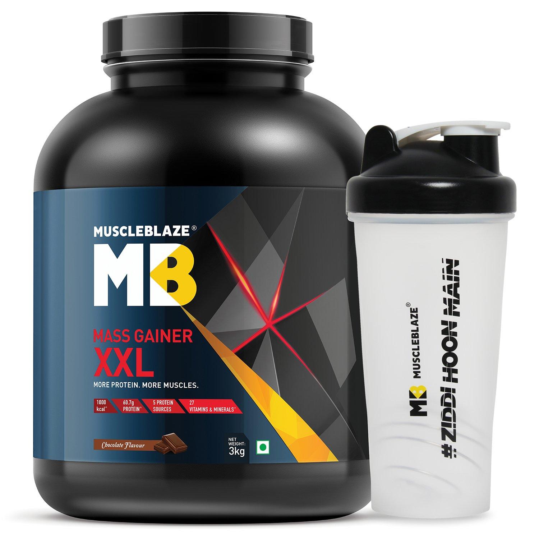 MuscleBlaze Mass Gainer XXL with free Shaker Chocolate 66 l
