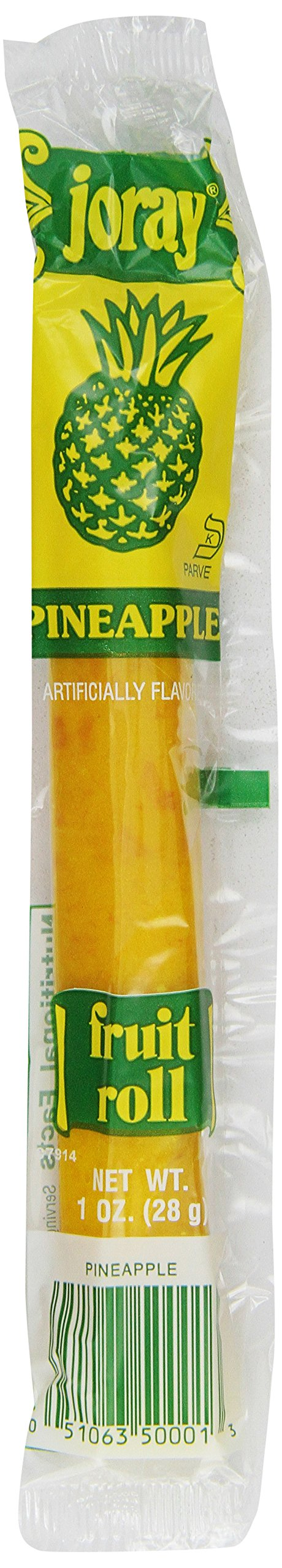 Joray Fruit Roll, Pineapple, 1-Ounce Units (Pack of 48)