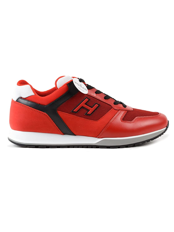 Hogan メンズ HXM3210Y861II4961M レッド 革 運動靴 B07FGDV7ZV
