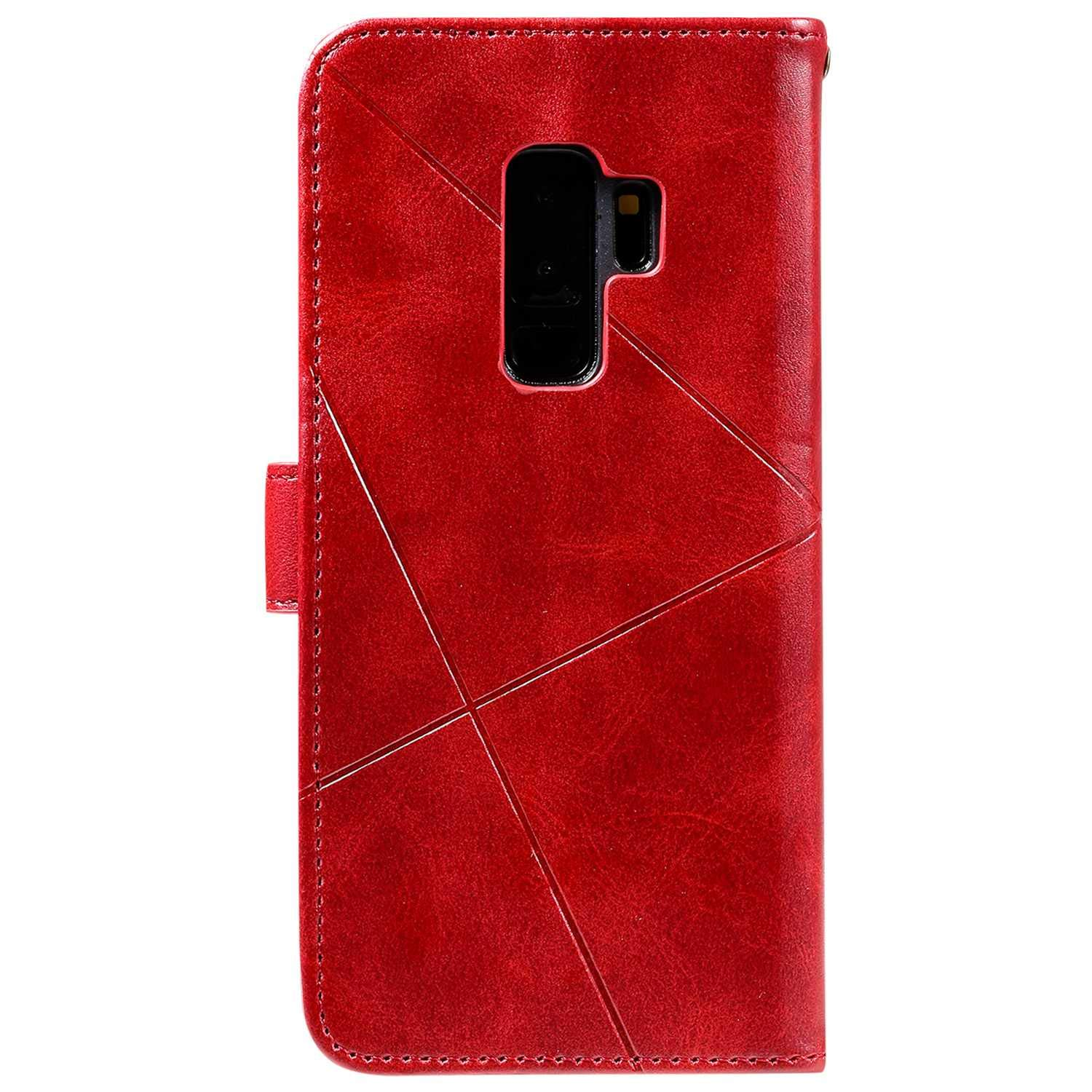 Multifunctions Book Style Case with Soft TPU Bumper Case Galaxy S9 Plus Case Red The Grafu Shockproof PU Leather Wallet Cover for Samsung Galaxy S9 Plus