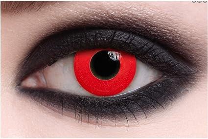 0fb67db411a9b3 lentilles pour halloween de couleur sans correction fantaisie crazy  déguisement annuelles valables 1 an (all