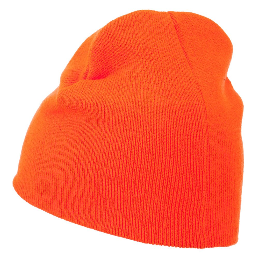 f6e275aa414 Amazon.com  Ultra Soft Acrylic Knit Beanie - Neon Orange OSFM  Clothing