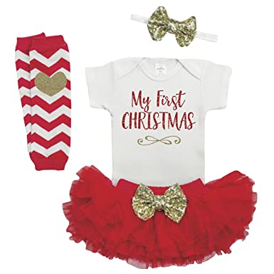 Baby Girl Christmas Outfit, Baby First Christmas Outfit, Newborn Christmas - Amazon.com: Baby Girl Christmas Outfit, Baby First Christmas Outfit