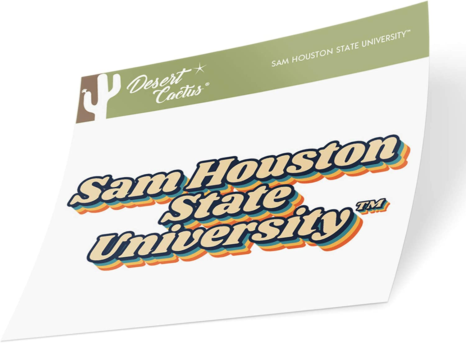 Sam Houston State University SHSU Bearkats NCAA Vinyl Decal Laptop Water Bottle Car Scrapbook (70's Name Sticker)