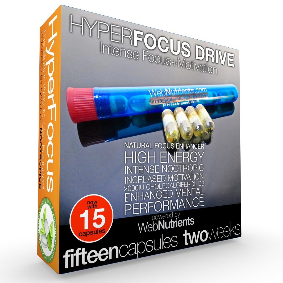 15-Day HyperFocus Drive The Ultimate Nootropic Solution for Focus and Motivation. Vegetarian Capsules. by Nootropic Stacks by WebNutrients