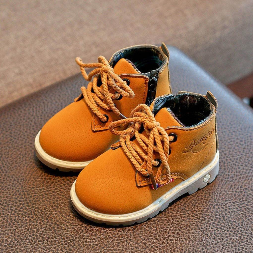 EU 22, Nior Mode Chaud Gar/çons Filles B/éb/é Occasionnel Chaussures QinMM Martin Sneaker Bottes Enfants