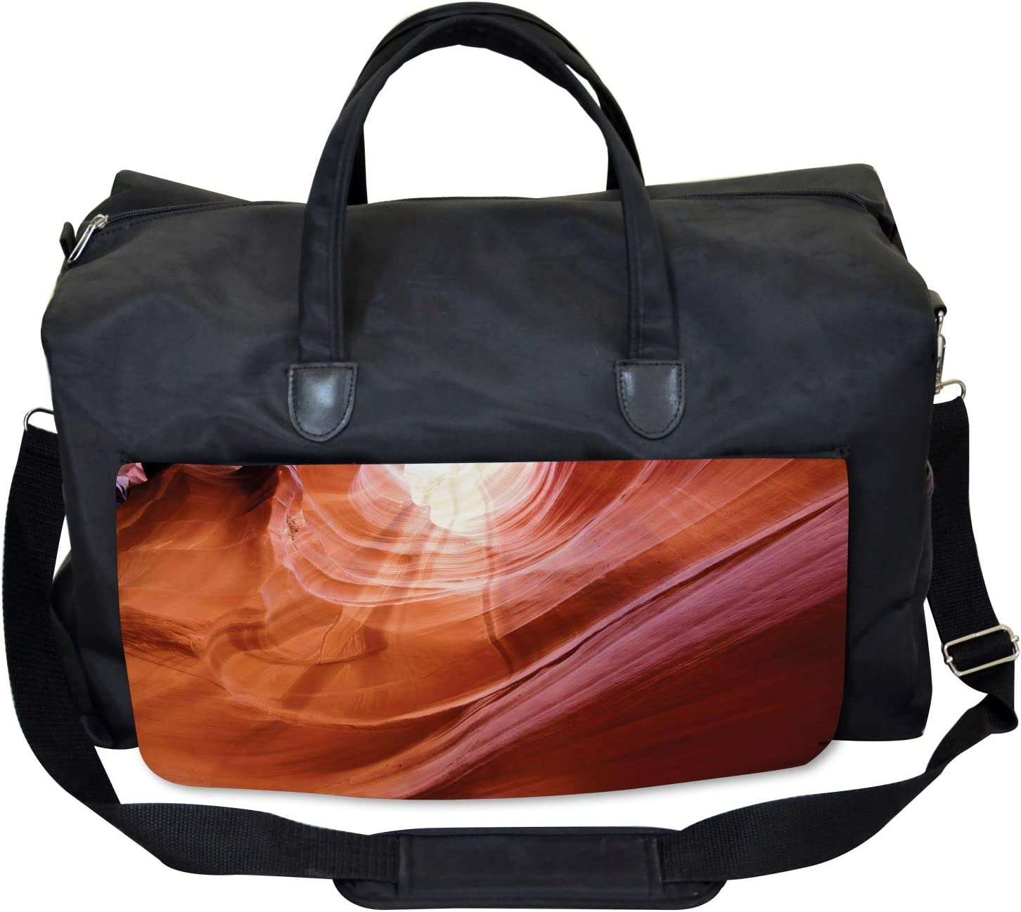 Large Weekender Carry-on Ambesonne American Gym Bag Canyon Arizona Nature