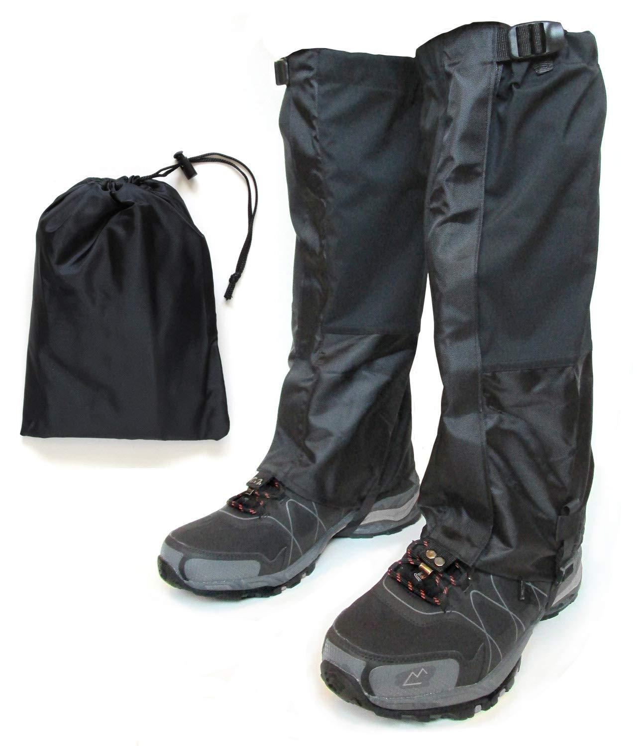 Hiking Gaiter – Waterproof Leg Gaiters for Women and Men – Nylon Lightweight Hiking Shoe Gaiters with Storage Bag
