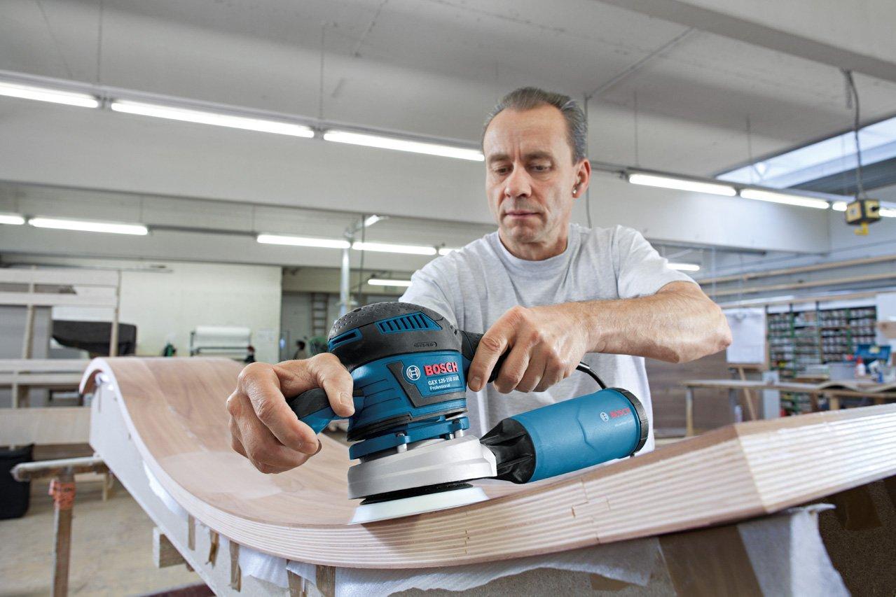 2 Schleifteller Karton Bosch Professional GEX 125-150 AVE Exzenterschleifer 125mm, 150mm 400 W 2x Schleifpapier