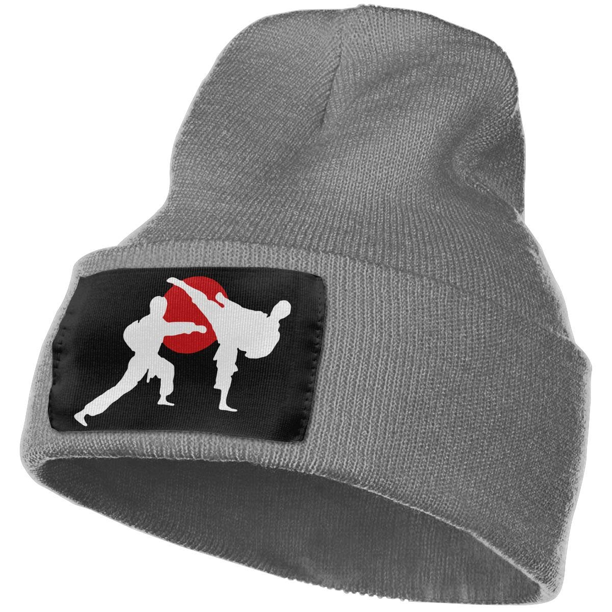 Two Karate Fighter Soft Skull Beanie WHOO93@Y Mens Womens 100/% Acrylic Knitting Hat Cap