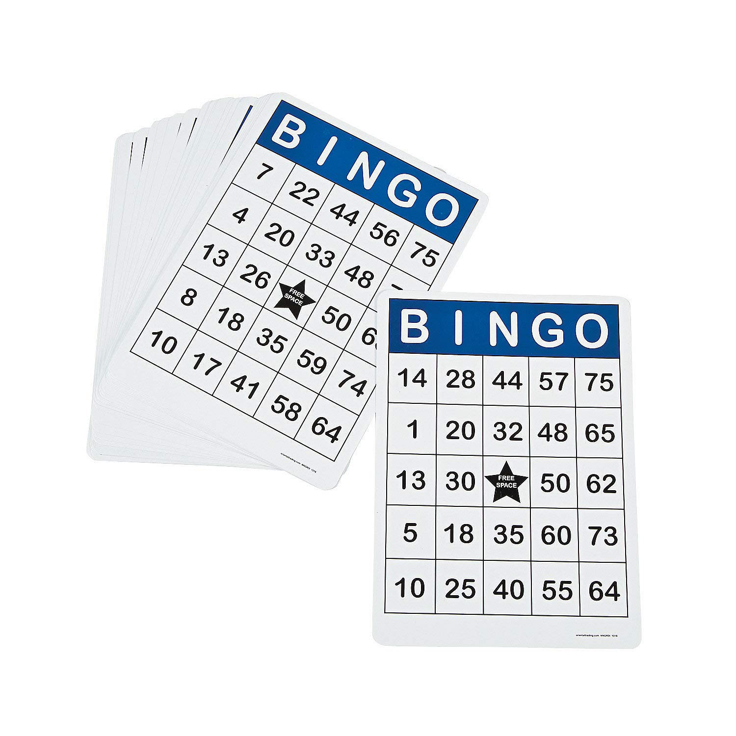 Fun Express - Jumbo Bingo Cards - 25 Pcs - Toys - Games - Carnival & Bingo - 25 Pieces