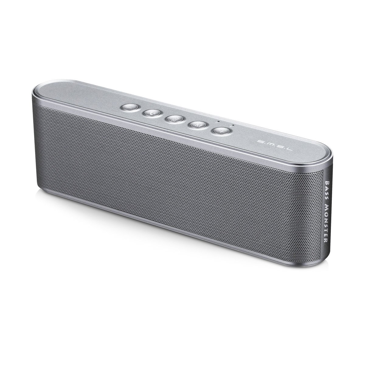 VMV SMSL A5 Portable Bluetooth Speakers Aluminum BT 4.2 Wireless Stereo Speaker with Loud Stereo Sound, Rich Bass, Hands-free Calling,FM Fuction,TF card & U Disk Direct Read Playback Bright Grey by VMV