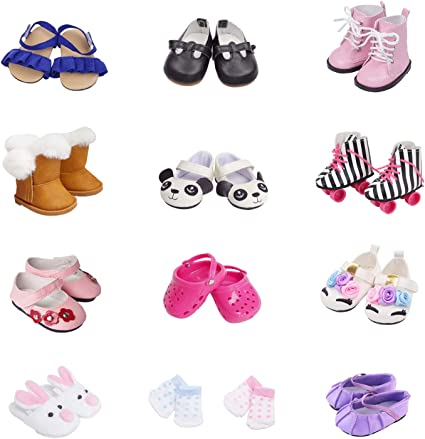 NEW GENERATION DOLL CLOTHES PINK SANDLE BOWS FLIP FLOPS SHOES