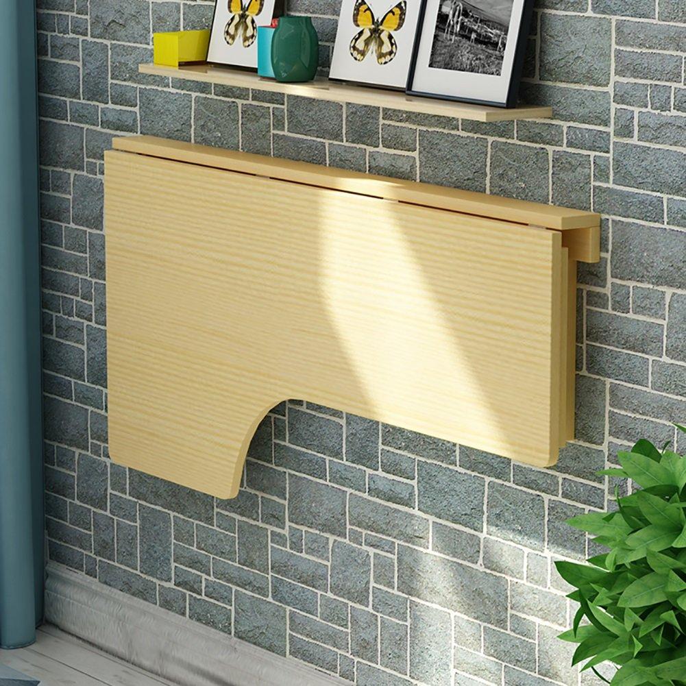 ZJM ワニスの壁の壁のテーブルの壁のドロップレットのテーブルの折りたたみキッチンダイニングテーブルのデスク ( サイズ さいず : 100*60cm ) B079BV4B5F100*60cm