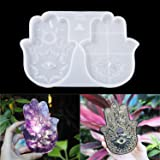 Hamsa Mold, Resin Mold, Palm Amulet Mold, Epoxy Resin Hamsa Hand with Incense Holder, LET'S RESIN&Resin Queen…