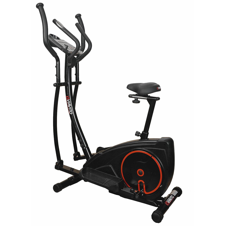 Setry Viavito 2-en-1 elíptica y bicicleta estática - negro/rojo: Amazon.es: Deportes y aire libre