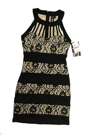 d0a5f589430 Amazon.com: Trixxi Party Cocktail Dress Women's Juniors Floral Lace ...