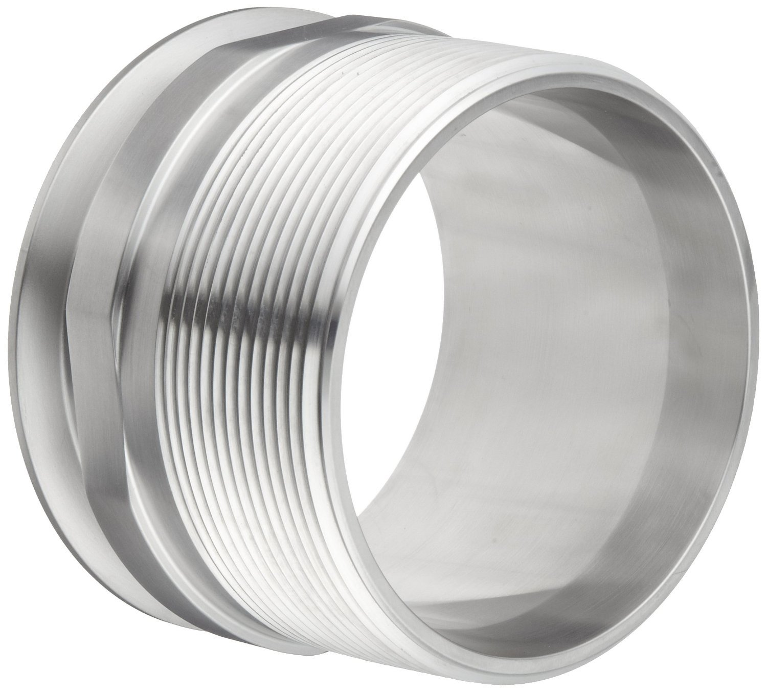 Dixon 21MP-G400 Stainless Steel 304 Sanitary Fitting, Clamp Adapter, 4'' Tube OD x 4'' NPT Male
