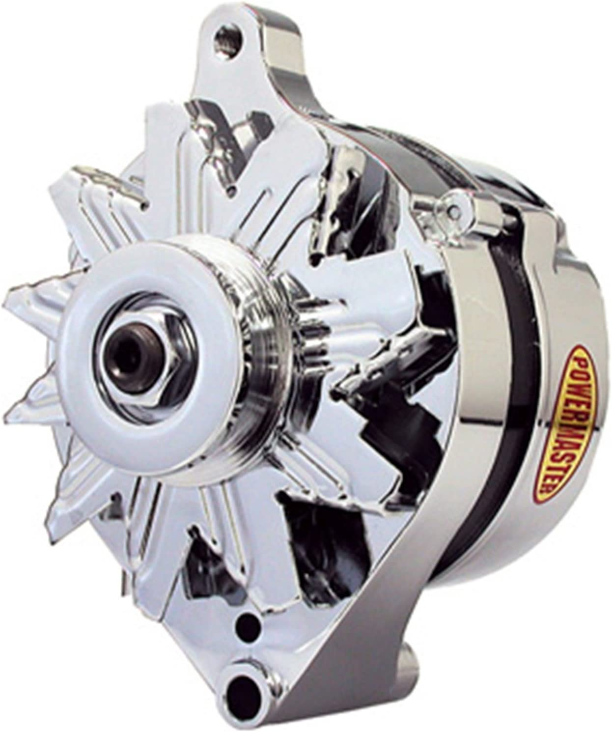 ext. regulated Powermaster 17078 Chrome Alternator Ford 1G