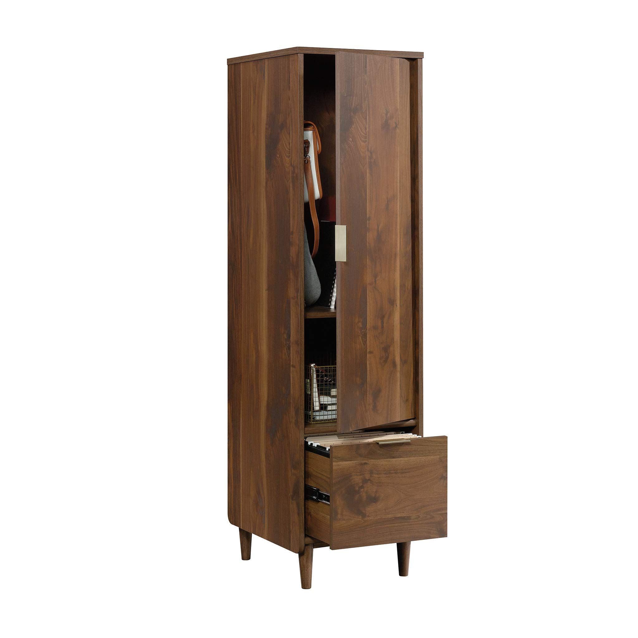 Sauder 421318 Clifford Place Storage Cabinet with File, L: 15.51'' x W: 18.50'' x H: 58.27'', Grand Walnut Finish by Sauder (Image #10)