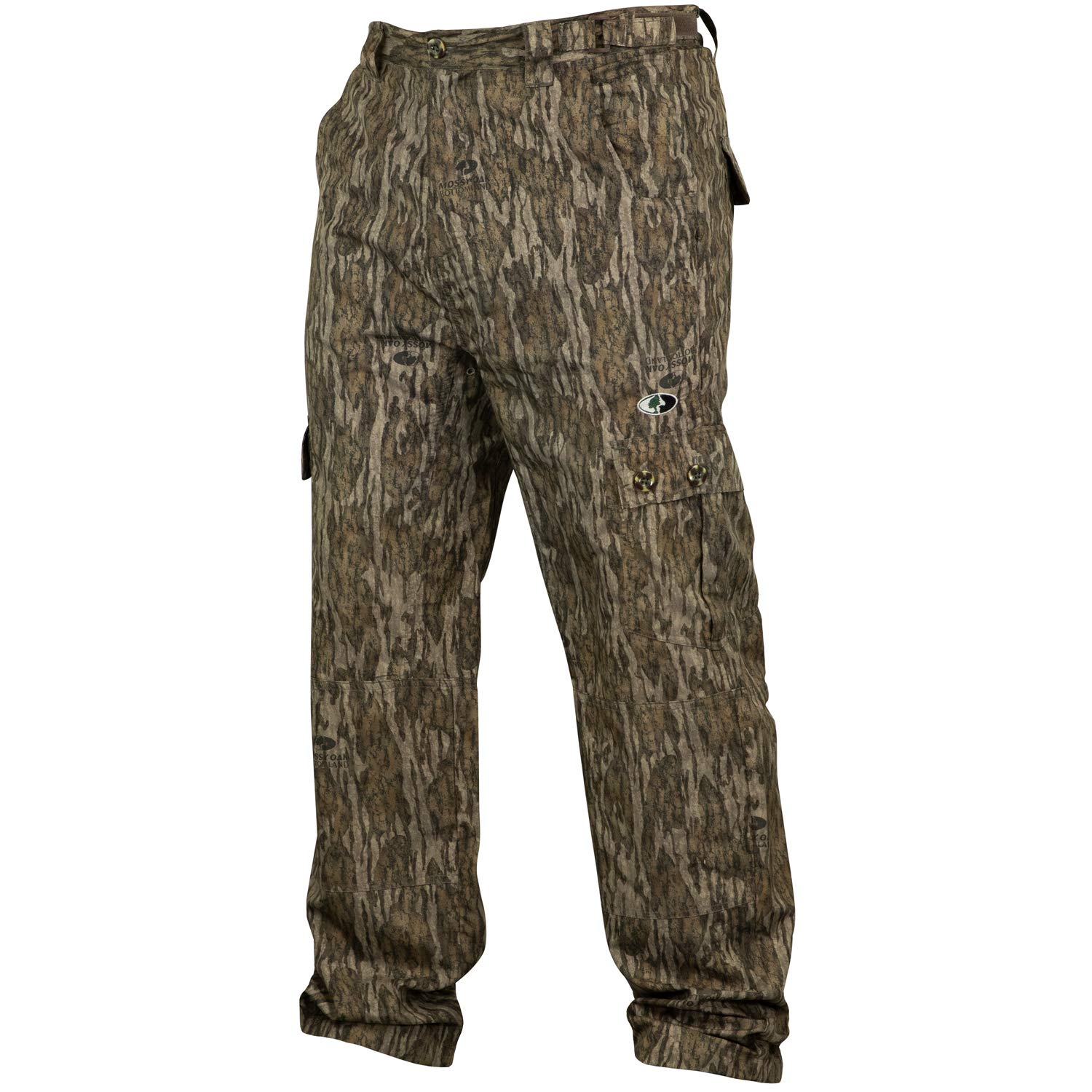 Mossy Oak Men's Tibbee Technical Lightweight Camo Hunting Pants, Bottomland, 3X-Large