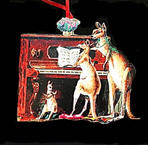 Amazon Com Kangaroos At Piano Ornament Handcrafted Wood Christmas