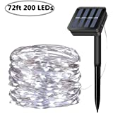 Amazon Price History for:Solar String Lights, 200 LED Solar Fairy Lights 72 feet 8 Modes Silver Wire Lights Waterproof Outdoor String Lights for Garden Patio Gate Yard Party Wedding Indoor Bedroom - Cool White