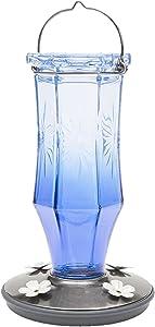 Perky-Pet Sapphire Starburst Vintage Glass Hummingbird Feeder 8129-2