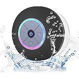 Elitehood 防水 スピーカー Bluetooth4.3 ブルートゥース ワイヤレス お風呂用 吸盤式 マイク搭載 小型 軽量(ブラック)