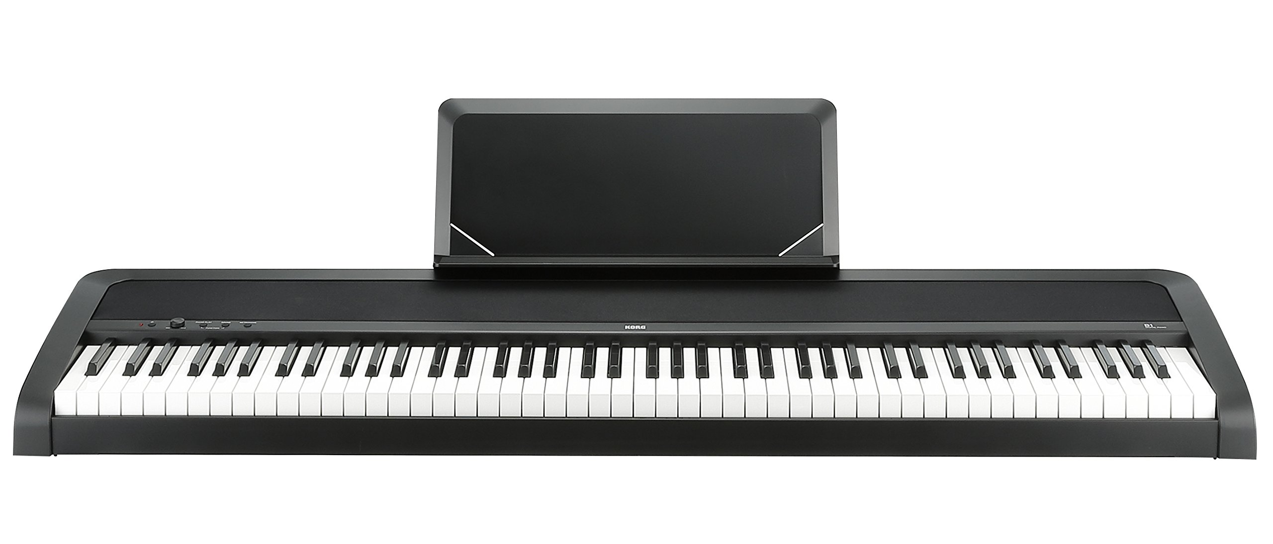 Korg B1 88 Key Digital Piano with Enhanced Speaker System Black by Korg