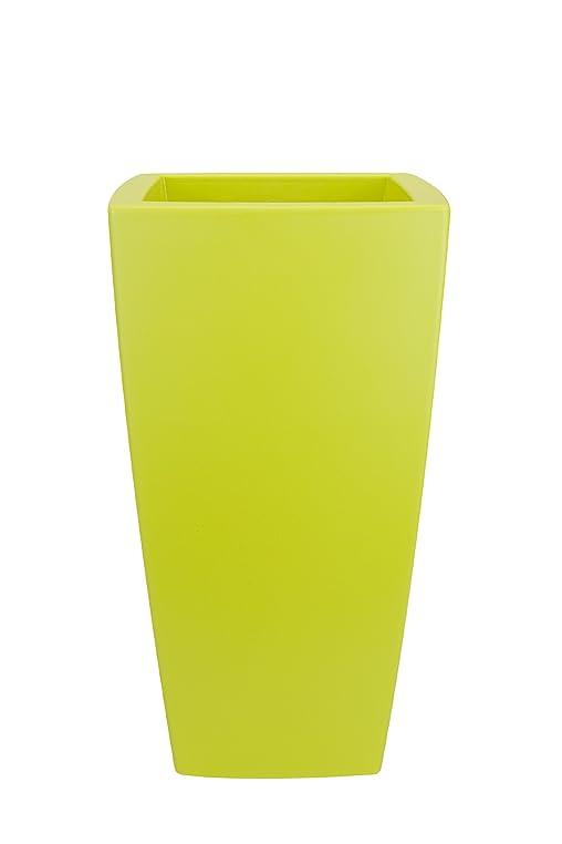 elho Pflanzkübel Pure Soft Square High 30x30xH56 cm limegreen D ...