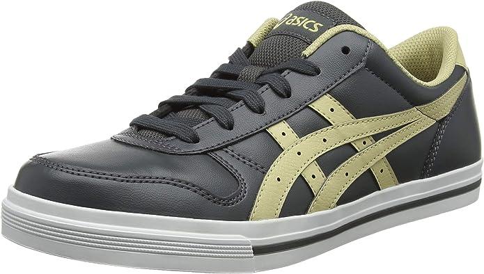 ASICS Aaron Sneakers Damen Herren Unisex Dunkelgrau/Sand Größe 40 1/2 - 41 1/2