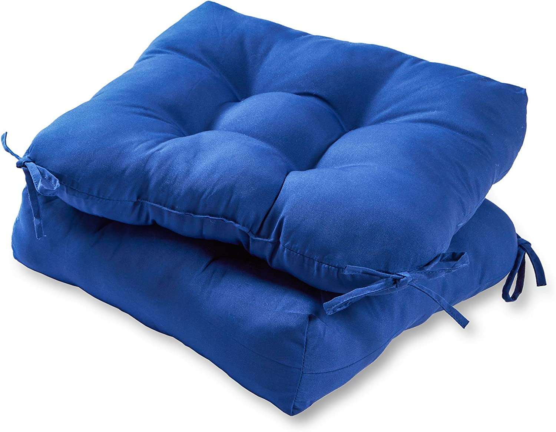 Greendale Home Fashions 20-inch Outdoor Chair Cushion (set of 2), Marine