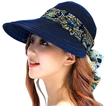 6ae26388a74ae Womens Travel Floppy Hat Wide Brim Sun Visor Hat with Flap Camping Fishing  Cycling Gardening Sun