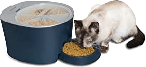 PetSafe Six Meal Pet Feeder, Automatic Cat and Dog Food Dispenser, Programmable Digital Clock with Sleep Mode Function, 6 Cups Total Capacity, Easy to Clean and Tamper-Resistant Design
