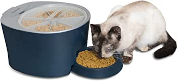 PetSafe Six Meal Automatic Pet Feeder, Dispenses Cat and Dog Food, Battery Powered Digital