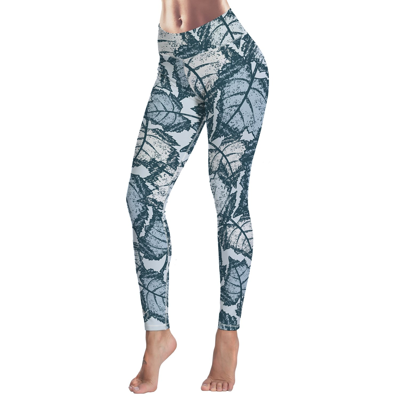 81d1e37ad3149f Amazon.com: WAZZIT Full Length Yoga Workout Stretch Capris Printed Leggings  for Women Pants Trousers S-XL: Clothing