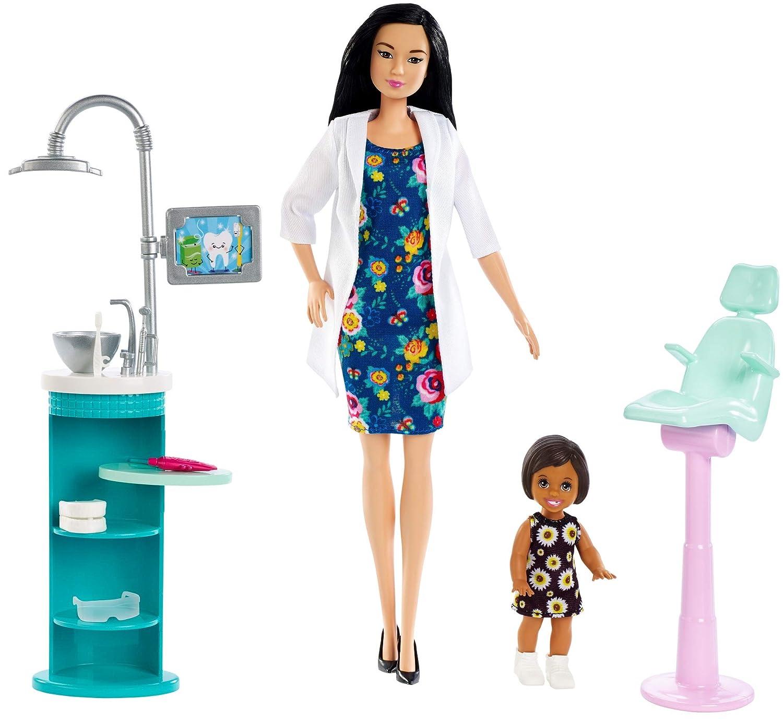 Pedomom   Amazon | バービー 歯医者人形&プレイセット ブラックヘア | きせかえ人形・ハウス | おもちゃ