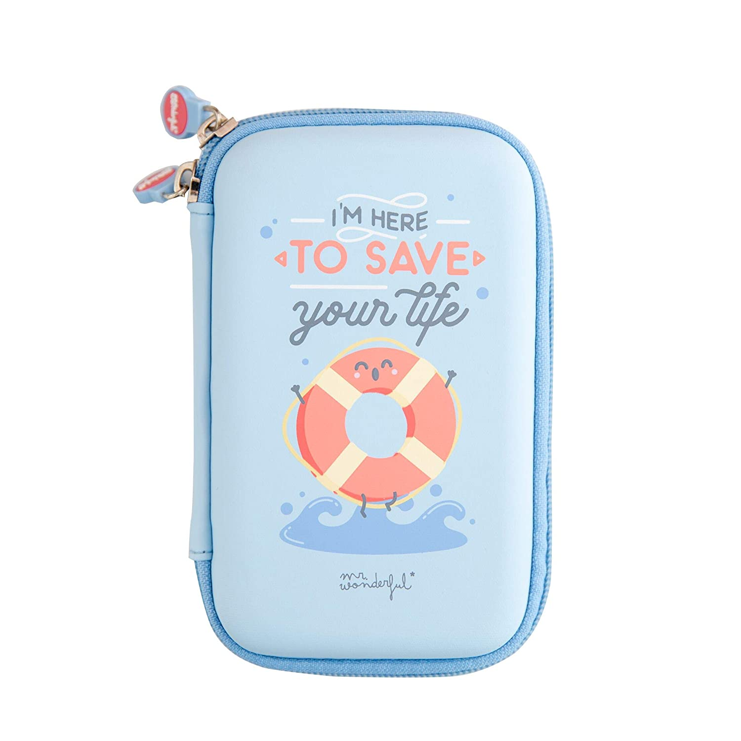 Mr Wonderful Save Your Life - Funda para Disco Externo, Color Azul Quam License S.L. MRDDP005