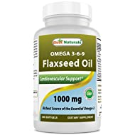 Best Naturals Flaxseed Oil 1000 mg 240 Softgels - Omega-3-6-9