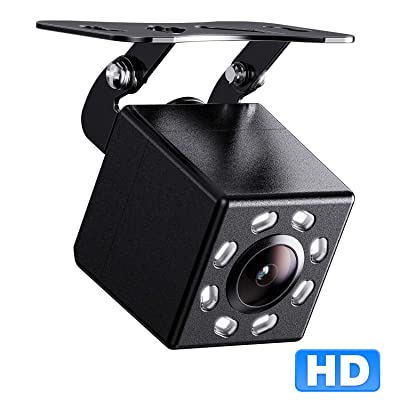 Peizeen Backup Camera, HD 8 Night Vision Rear View Camera, Waterproof Reversing Camera, Suitable for 12V Wired Screen, Suitable for Cars, Mini Bus, Pickup,Mini Trucks, SUV, Mini RV.(M5): Car Electronics
