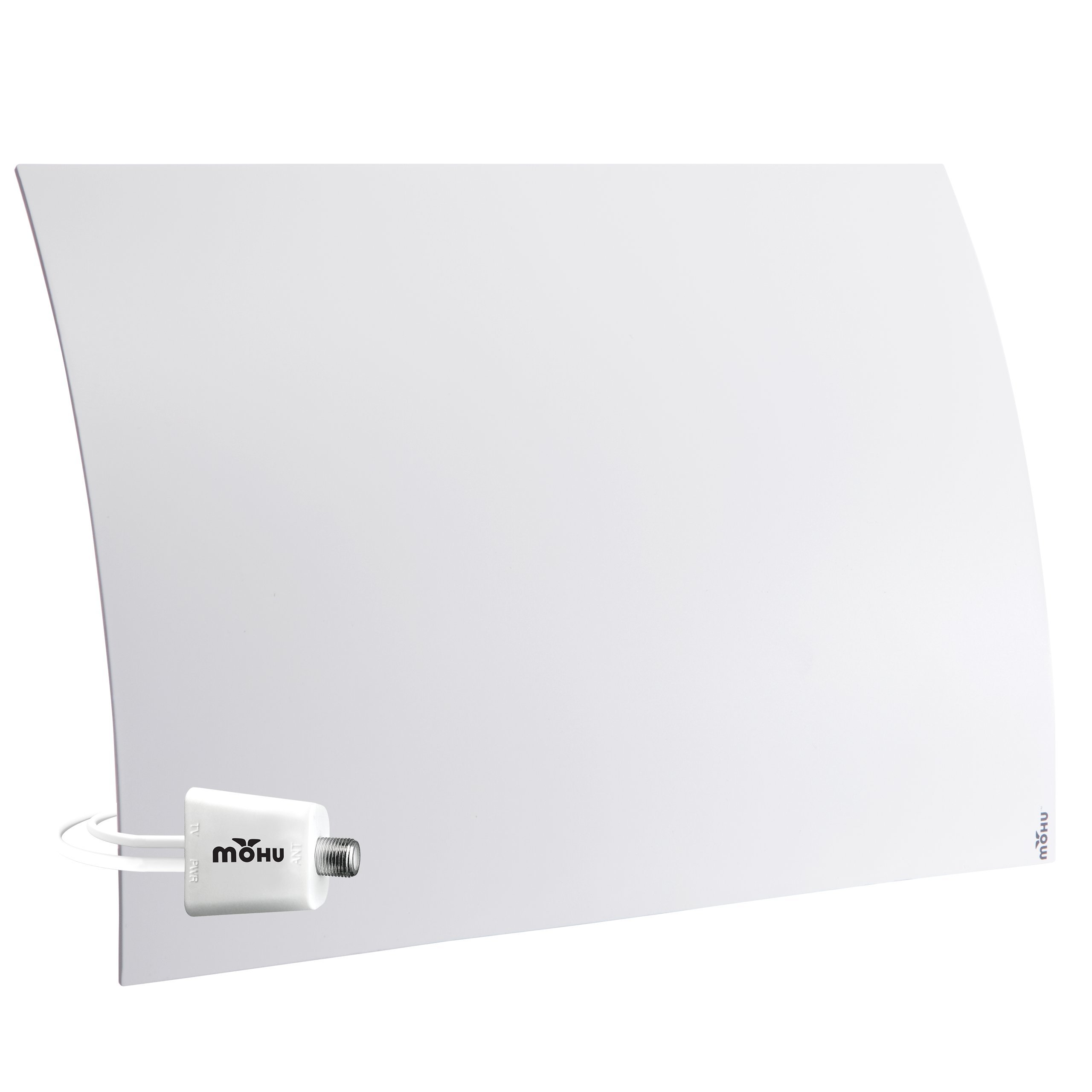 Mohu Curve 50 TV Antenna Indoor Amplified 60 Mile Range Modern Design 4K-Ready HDTV Premium Materials for Performance (MH-110959) by Mohu