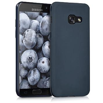 kwmobile Funda para Samsung Galaxy A3 (2017) - Carcasa para móvil en [TPU Silicona] - Protector [Trasero] en [Azul Oscuro Mate]