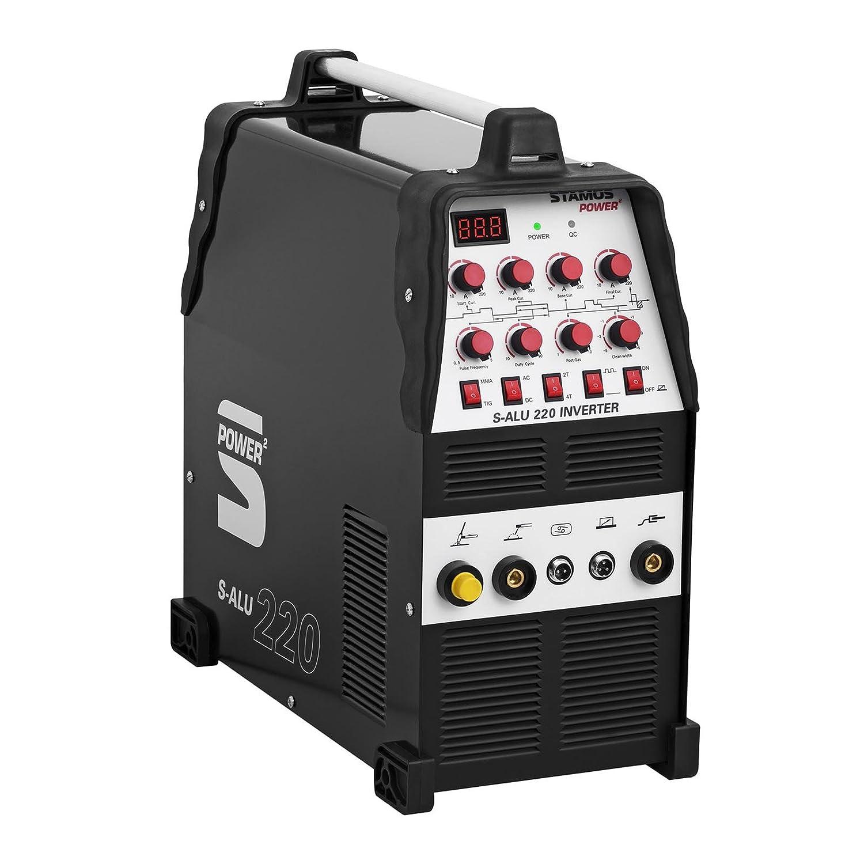 Stamos Power - S-ALU 220 - Soldador de aluminio - 200 A - 230 V - Pulso - 2/4 Tiempos - Envío Gratuito