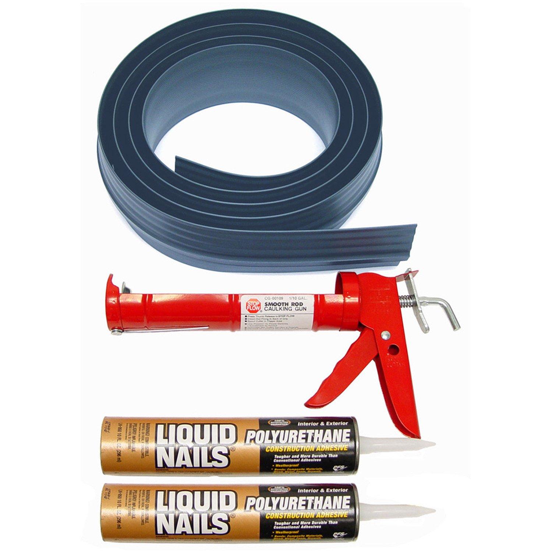 Auto Care Products Inc 51018 18-Feet Tsunami Seal Garage Door Threshold Seal Kit, Gray