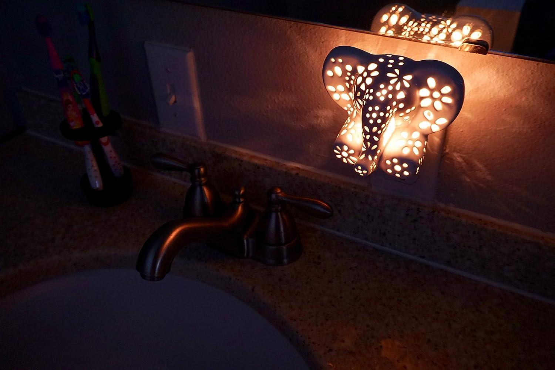 Amazon.com: Luz nocturna con animal tallada a mano para ...