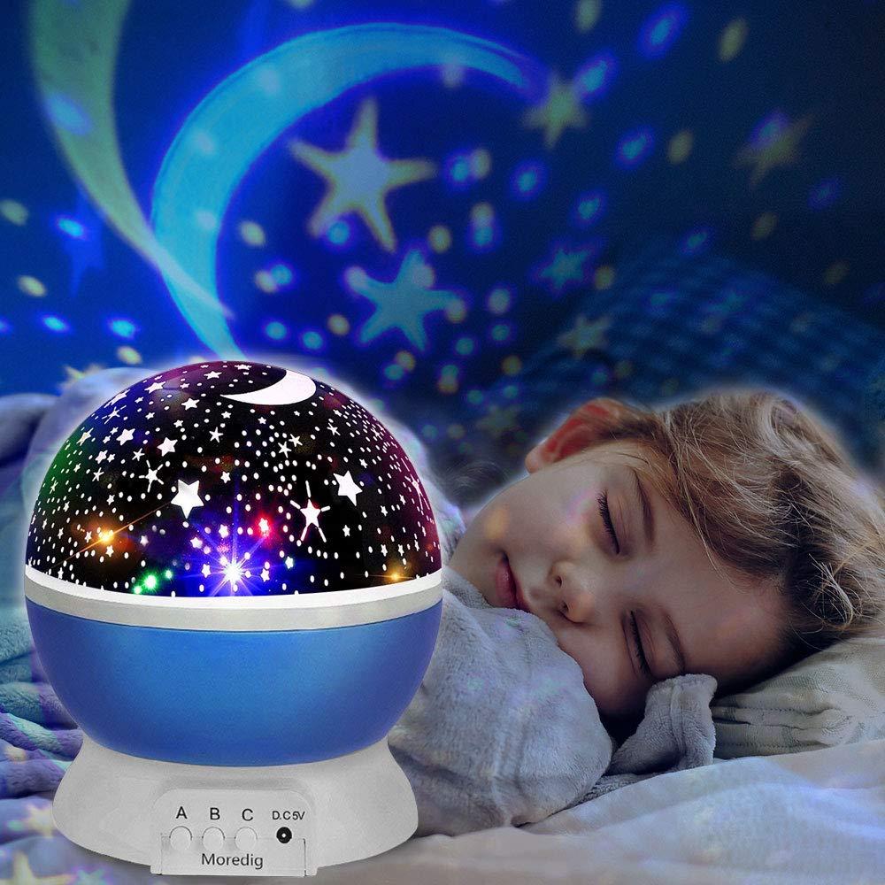 innislink Lampada Proiettore Stelle, Luce Notturna Proiettore LED Bambini Romantica Notte cielo Luna Stellata Universe Lampada Proiettore Decorazioni Luci per Bambini Regalo Giocattoli - Rosa
