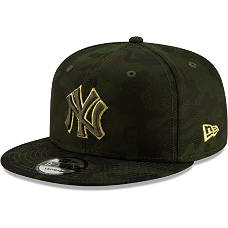 new style 696c4 09288 New Era New York Yankees 2019 Armed Forces Day 9FIFTY Adjustable Snapback  Hat Green Camo